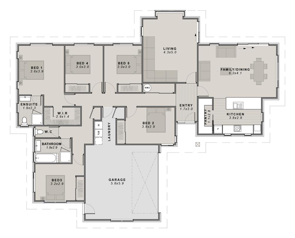 The Springfield Floor plan