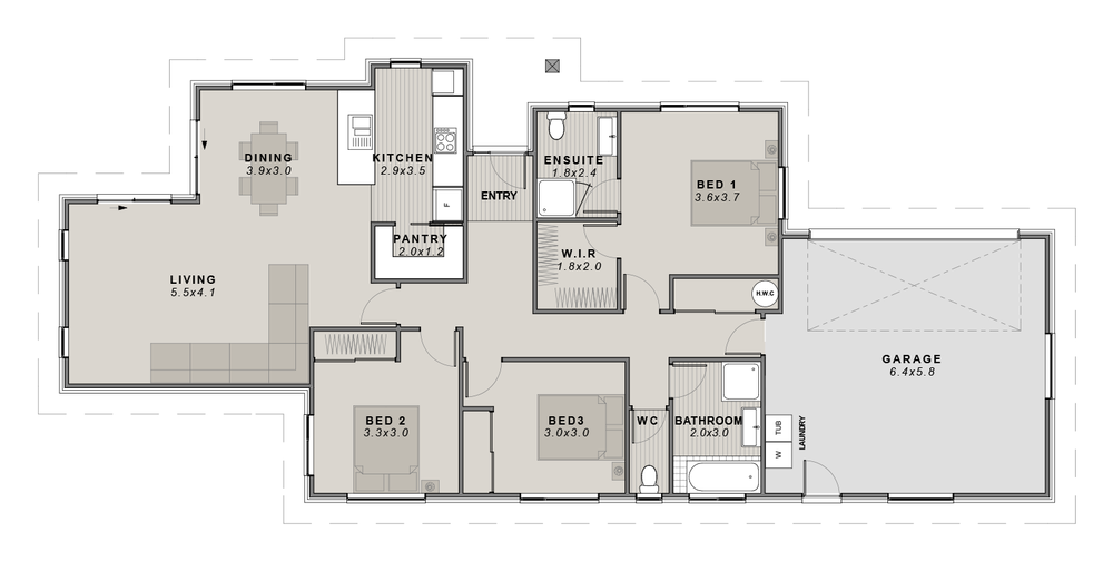 The Travis Floor plan