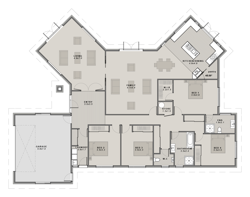 The Winchester Floor plan