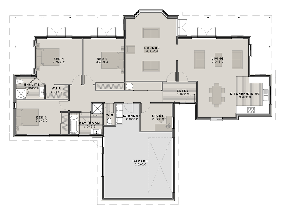 The Balmoral Floor plan