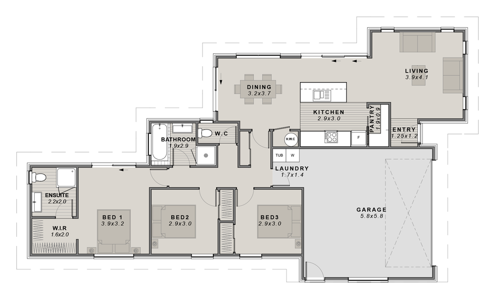 The Lemonwood Floorplan