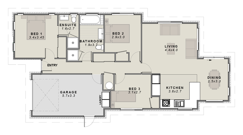 The Karamu Floorplan