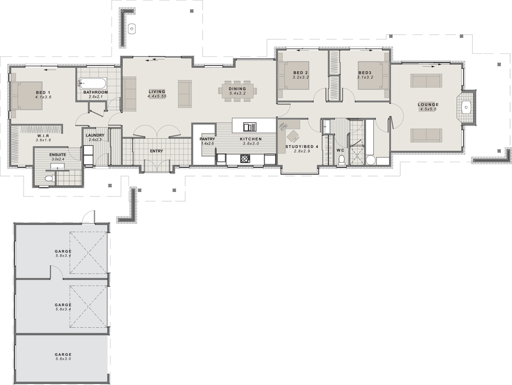 The St Arnaud Floor plan