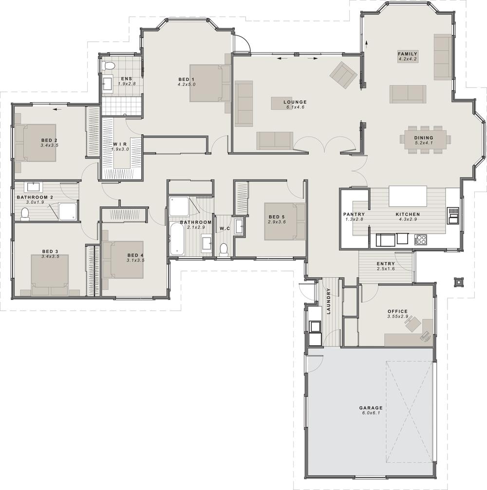 the Amuri Floor Plan