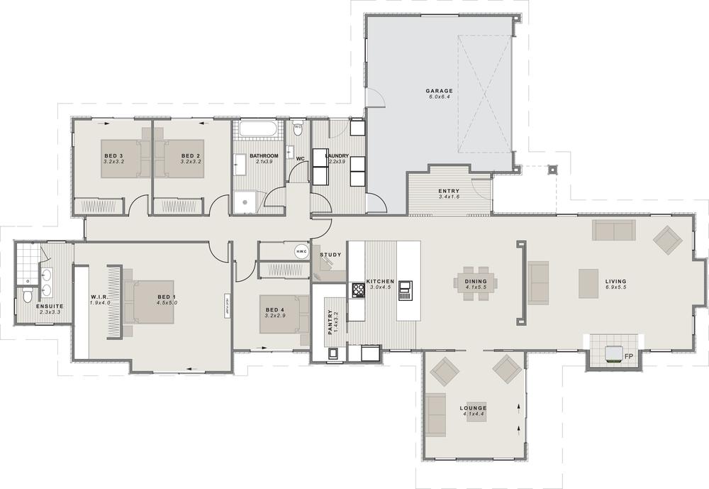 the benmore Floor Plan