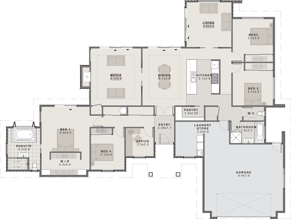 The McKenie Floor Plan