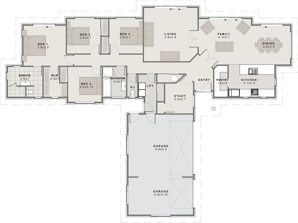 The Clarence Floor Plan
