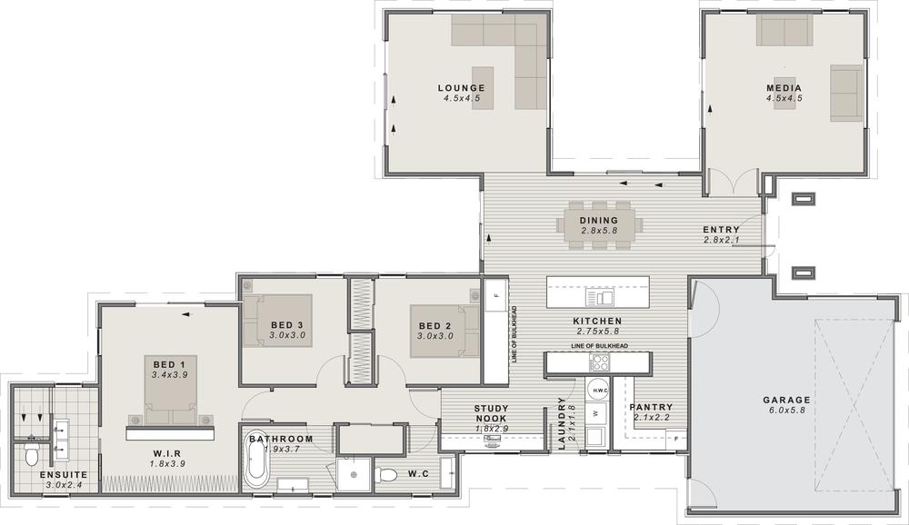 The rakaia Floor plan