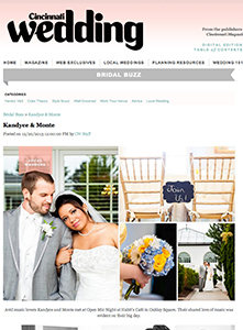 Cincinnati Wedding Magazine - 2013 - Wedding of the Week - Kandyce and Monte