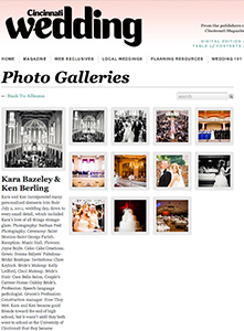 Cincinnati Wedding Magazine - 2011 -Wedding of the Week - Kara and Ken