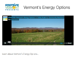 Paths to Vermont's Energy Future