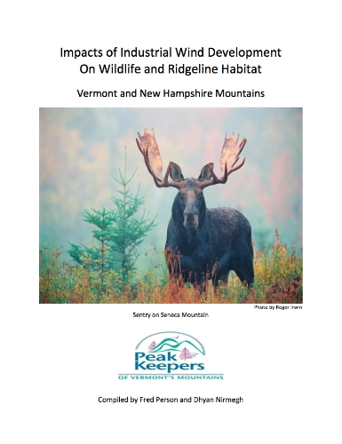 click on image to read about Impacts of Industrial Wind Development on Wildlife and Ridgeline Habitat