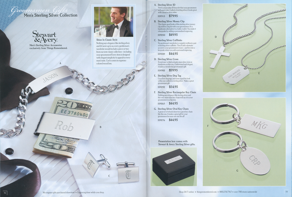 Wedding catalog spreads