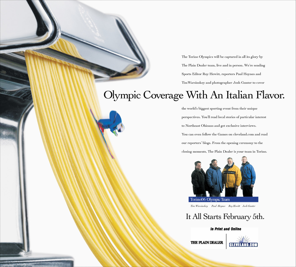 Ad series promoting Olympic Coverage from Torino Italy