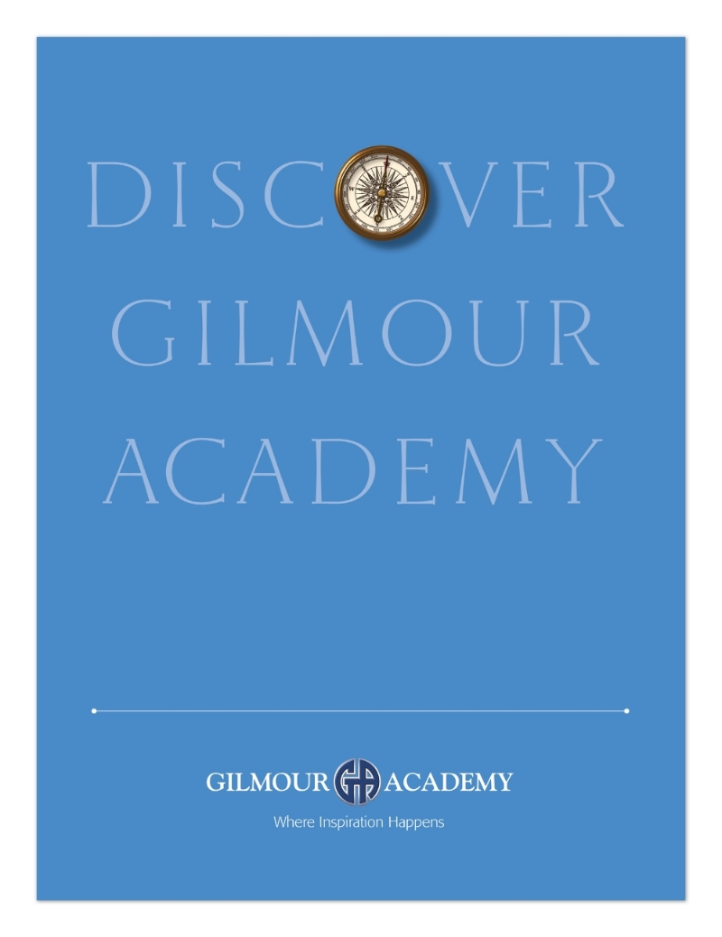 Folder for Gilmour Academy to house enrollee materials.