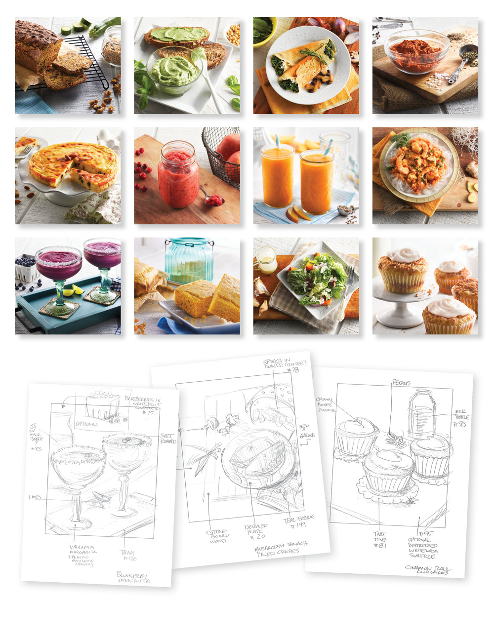 Photo direction & set designs for Vitamix Recipe book.