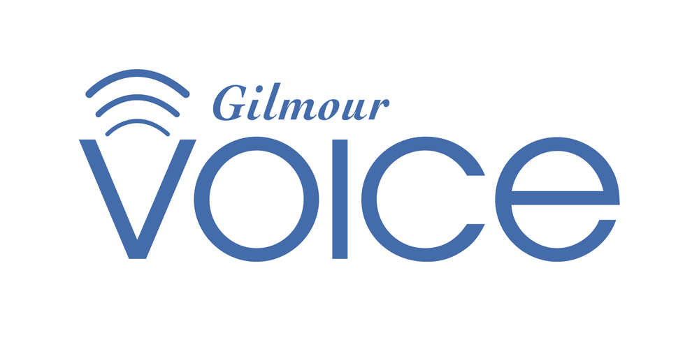 Logo for Gilmour Alumni promoting the sharing of stories and accomplishments.