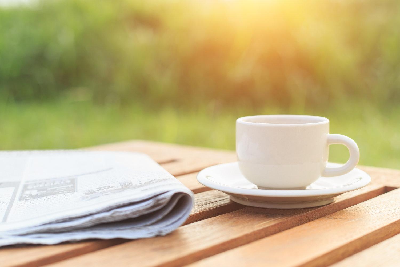 картинки с кофе и газетой креативно мыслить разрабатывать