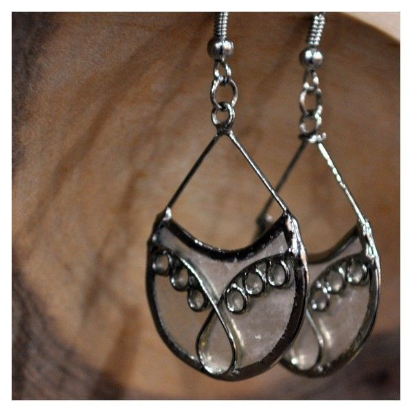 Capiz Filigree Teardrop Earrings