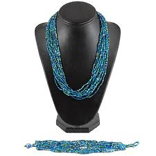 12 Strand Beaded Necklace