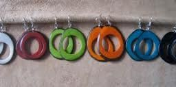 Tagua Donut Earrings