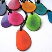 Single Flat Tagua Necklace