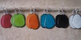 Flat Tagua Earrings