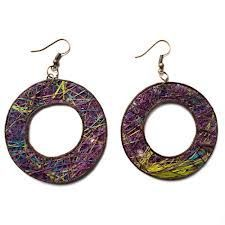 Donut Agave Fiber Earrings
