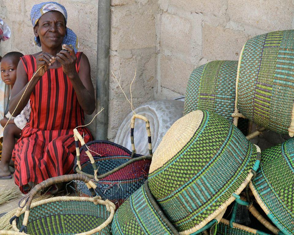 Basket Weaving Ghana : Ghana grassroots fair trade