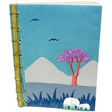 Bamboo spine pooh paper journal made by  Mr. Ellie Pooh  in  Sri Lanka
