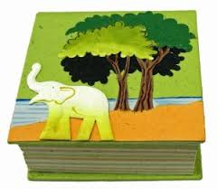 Pooh paper cube notepad made in Sri Lanka by Mr. Ellie Pooh
