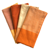 Bold cotton napkins from Sustainable Threads in India