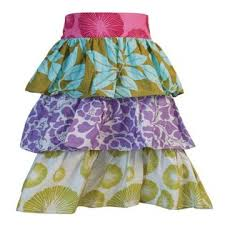 Ruffle half apron from Zen Zen in Indonesia