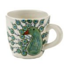 Peacock mug by  Lucias Imports  in  Guatemala