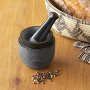 Mortar and pestle made by  Tara Project  in  India