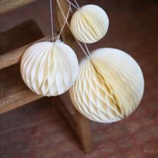 Handmade recycled paper festive baubles, perfect decorations made in India by Nkuku