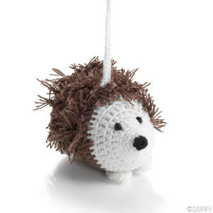 Crocheted hedgehog ornament made in  Vietnam  by  Mai Handicrafts