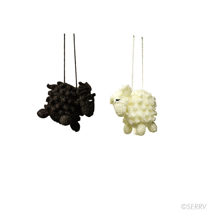Hand-knit sheep ornaments made in  Peru  by  Intercrafts Peru