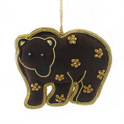 Brown bear ornament made in  India  by  World Finds