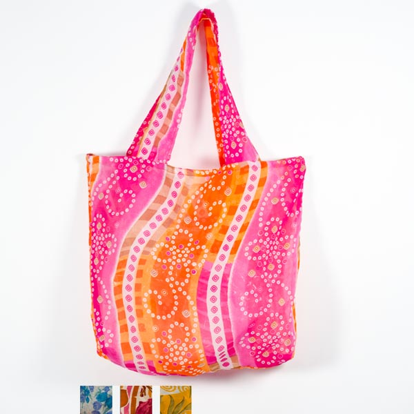 Recycled sari shopper bag made in India by Matr Boomie