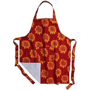 Colorful apron from Global Mamas in Malawi, it's available in reversible as well
