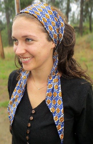 recycled sari triangle scarf by  Ganesh .