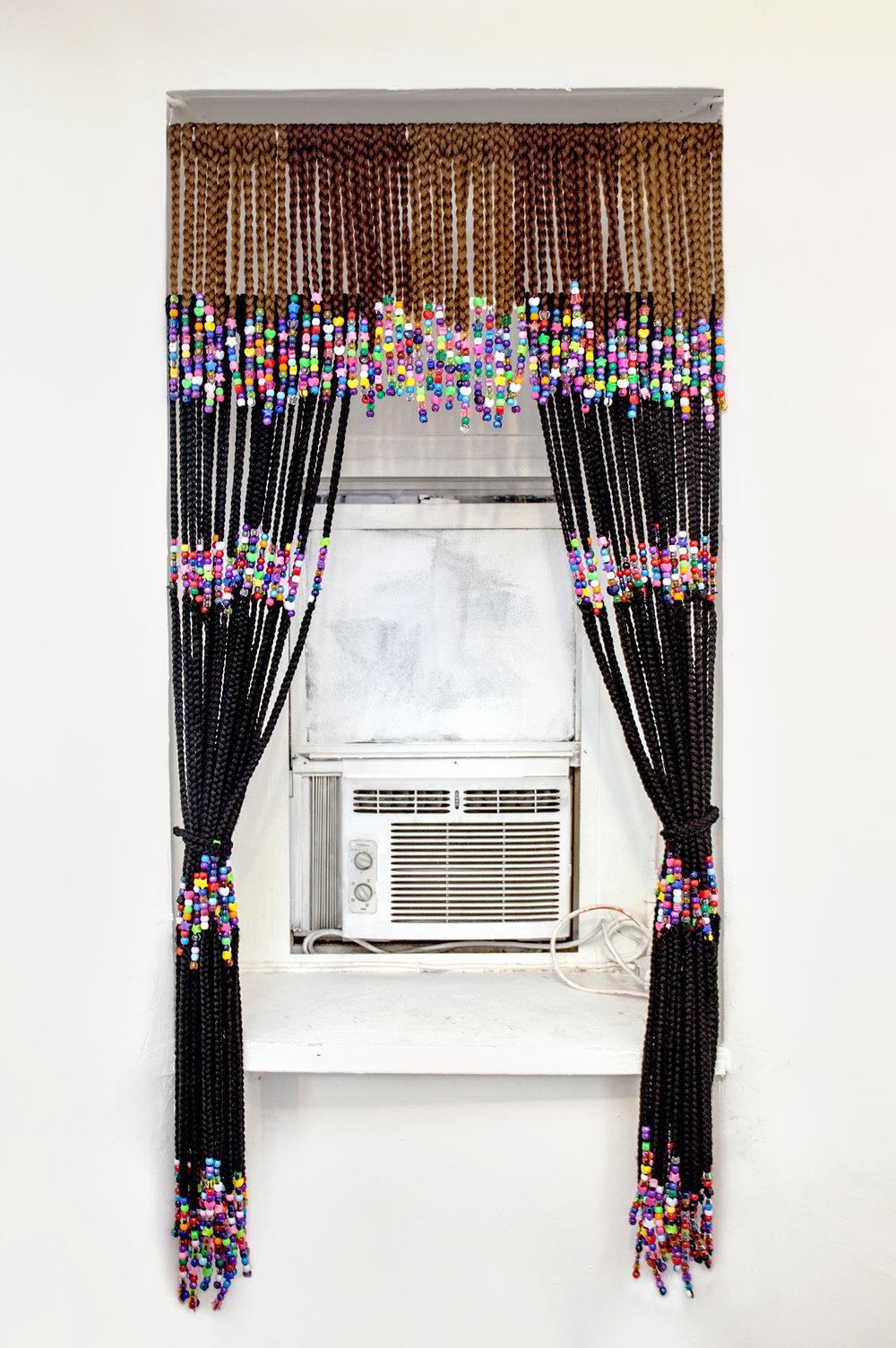 Box Braid Curtain, 2016