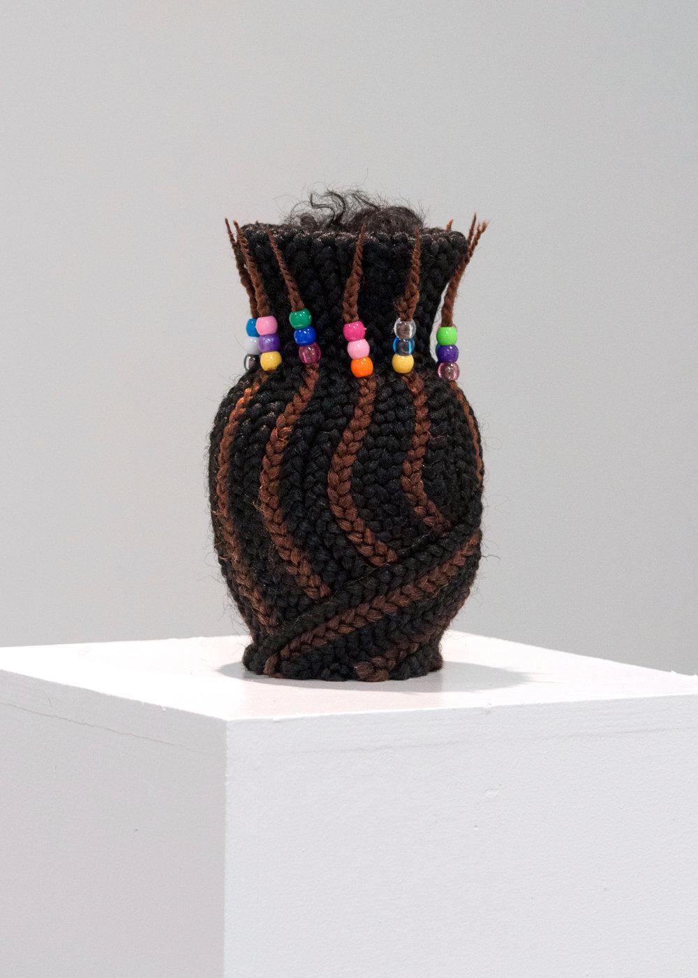 Box Braid Vase, 2017