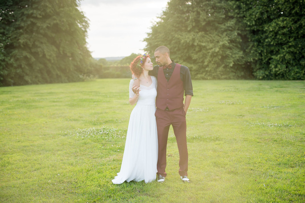 Vintage lace wedding gown altered and customised to suit the bride