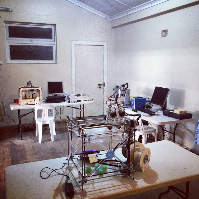 Our Maker Space:  3D printers & a CNC router.