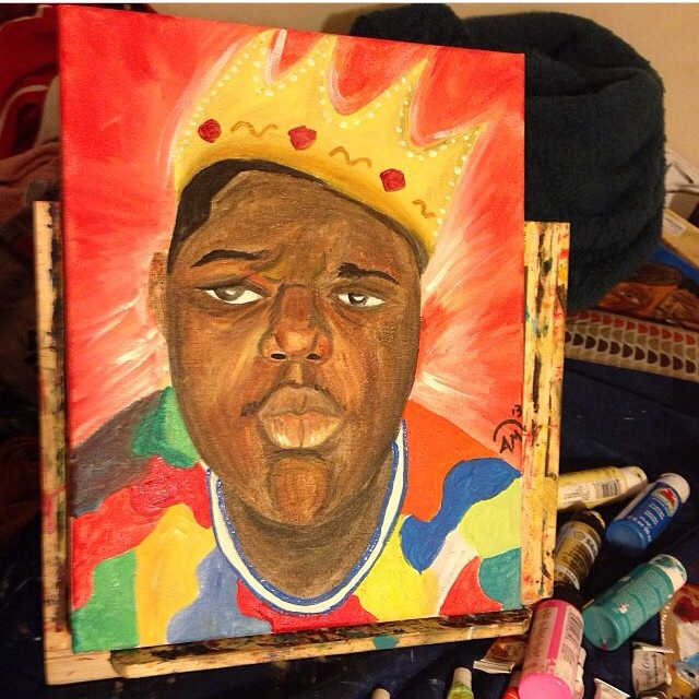 Definitely gotta show love to the portrait of the legendary Notorious B.I.G . Brooklyn is always in the house!