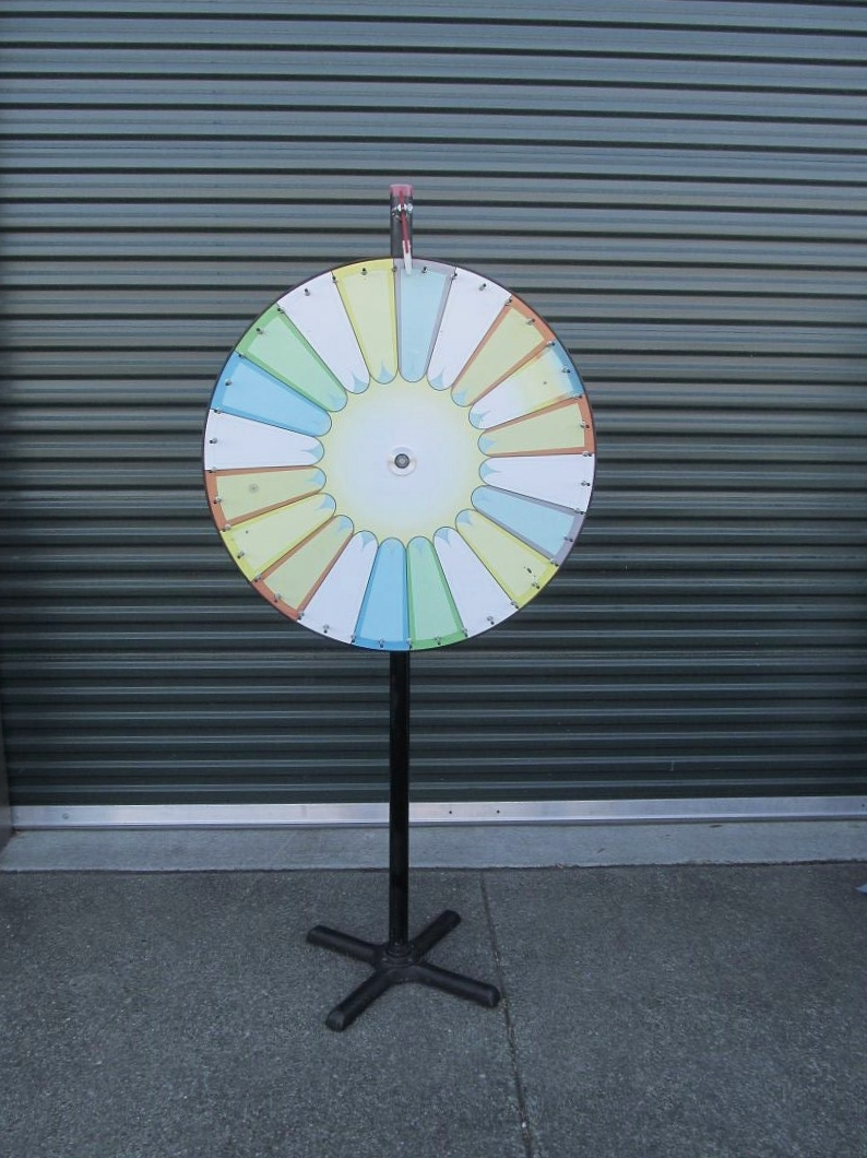 "$75 - Big Wheel  36"" Color Wheel. Floor or Tabletop.  20 Spaces, comes with Dry Erase Markers."