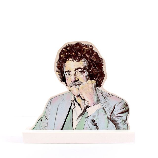Kurt Vonnegut 10 years ago today🌿#kurtvonnegut #standee