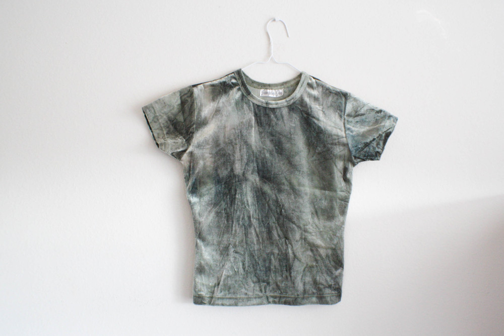 Next, is this fun little velvet tie dye-esk t-shirt. Simple and cute. $3.00